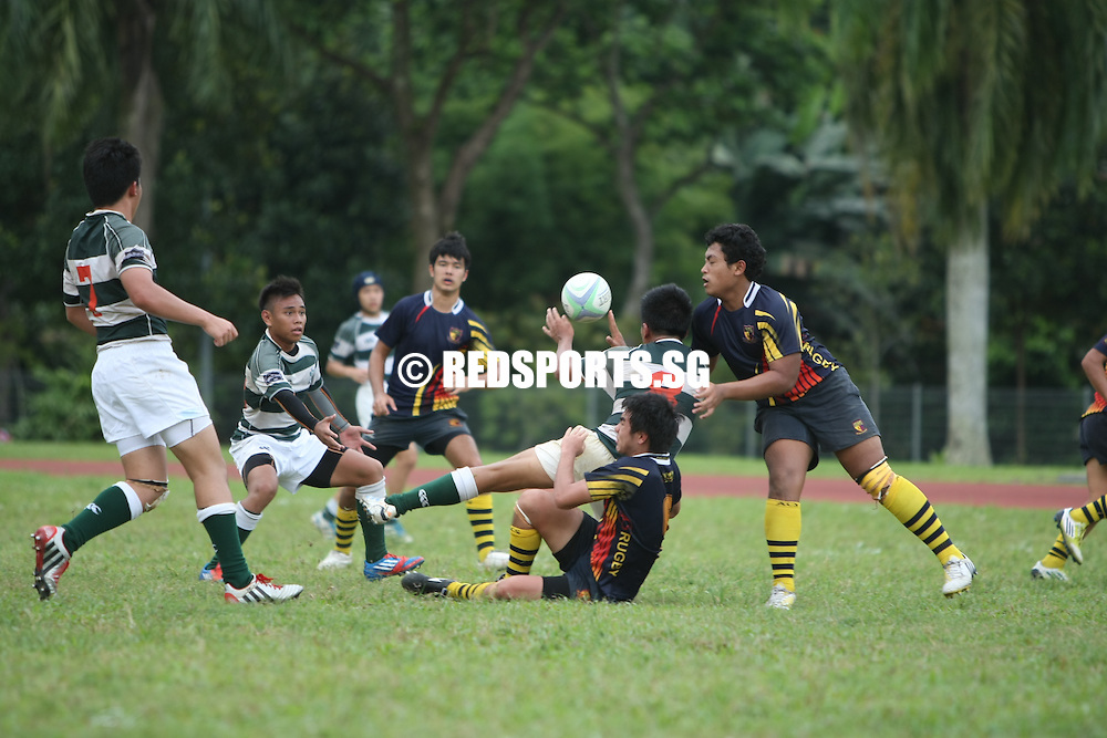 PESEB, Thursday, February 28, 2013 – Anglo-Chinese School (Barker Road) got their second win when they beat St Joseph's Institution (SJI) 19-13 in the National B Division Rugby Championship.<br /> <br /> Story: http://www.redsports.sg/2013/03/02/b-division-rugby-acsbr-sji/