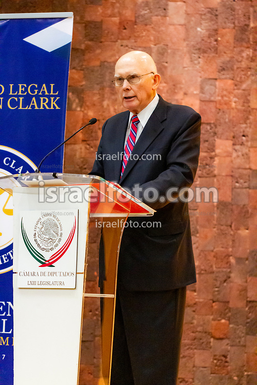 Mexico City, Mexico. January 13, 2017. Elder Dallin H. Oaks, member of the Quorum of the Twelve and a lawyer himself, delivers a message at the Regional Conference of the J. Reuben Clark Law Society in the Federal Legislative Palace.