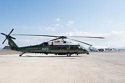 May 27, 2017 - Washington, District of Columbia, U.S. - Marine One helicopter. (Credit Image: ? Andrea Hanks/White House via ZUMA Wire/ZUMAPRESS.com)