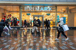 Glasgow, Scotland, UK. 1 November 2020. The Scottish Government today announced that from Friday 20 November, the most severe level 4 lockdown will be introduced in eleven Scottish council areas. This means non essential shops will close and bars, restaurants and cafes. Pictured; Primark is busy with shoppers.   Iain Masterton/Alamy Live News