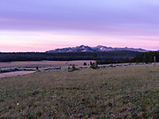 Sunrise at Dickinson Park, Shoshone National Forest, Popo Agie Wilderness, Fremont County, Wyoming, USA.