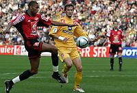 Fotball<br /> Nantes v Rennes<br /> 17. mars 2004<br /> Foto: Digitalsport<br /> Norway Only<br /> <br /> ABDELSALEM OUADDOU (REN) / GREGORY PUJOL (NAN