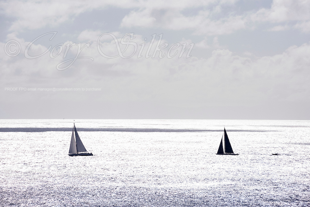 Zig Zag and Wild Horses racing in the Superyacht Challenge, day two.
