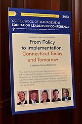 Yale SOM Education Leadership Conference Thursday Evening, 4 April.