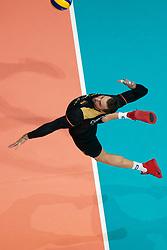 21-09-2019 NED: EC Volleyball 2019 Netherlands - Germany, Apeldoorn<br /> 1/8 final EC Volleyball / György Grozer #9 of Germany