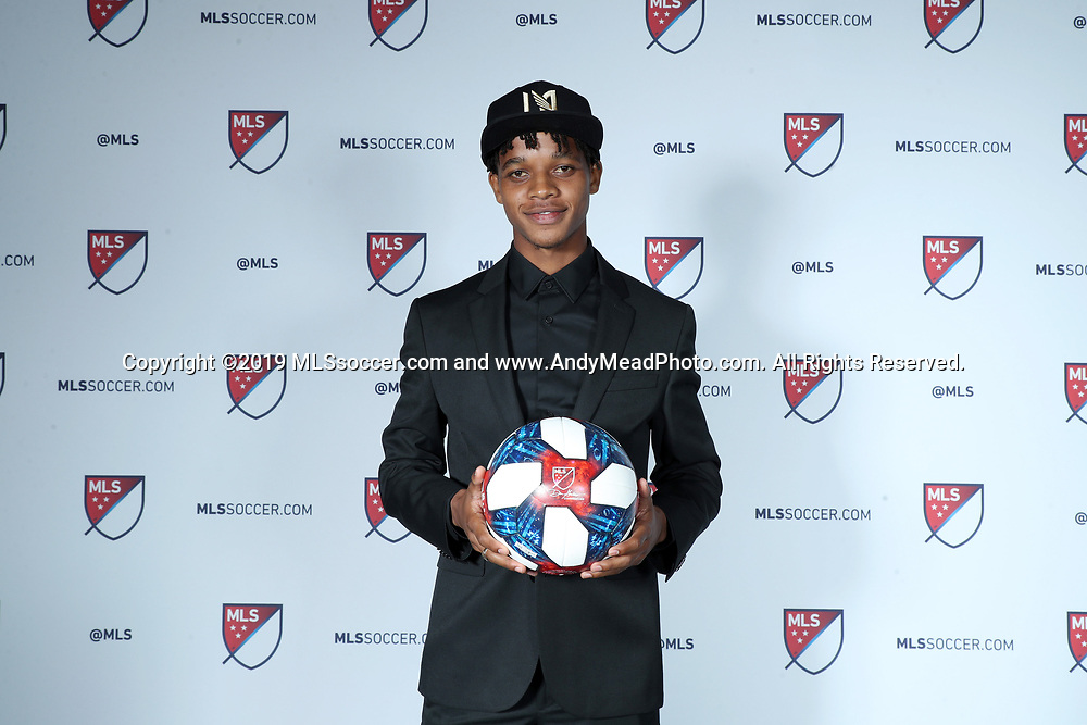 CHICAGO, IL - JANUARY 11: Peter-Lee Vassell was taken with the 40th overall pick by Los Angeles FC. The MLS SuperDraft 2019 presented by adidas was held on January 11, 2019 at McCormick Place in Chicago, IL.