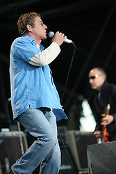 Roger Daltrey, singer of The Who headline on the main stage..T in the Park, Sunday 2006..©Michael Schofield..