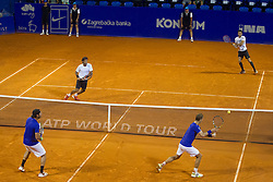 Santiago Gonzalez (MEX) and Mariusz Fyrstenberg (POL) during a tennis match against the Maximo Gonzalez (ARG) and Andre Sa (BRA) in final round of doubles at 26. Konzum Croatia Open Umag 2015, on July 25, 2015, in Umag, Croatia. Photo by Urban Urbanc / Sportida
