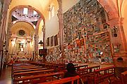 MEXICO, GUANAJUATO Cata church with retablos (ex-votos)