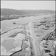 "ackroyd-P323-11. ""Aerials of Portland Center fill area. July 25, 1967"" (Swan Island)"