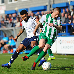 TELFORD COPYRIGHT MIKE SHERIDAN 30/3/2019 - Ellis Deeney of AFC Telford during the Vanarama National League North fixture between AFC Telford United and Blyth Spartans at the New Bucks Head.