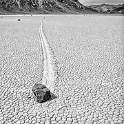 """One of the many amazing """"moving rocks"""" of the Racetrack Playa in Death Valley National Park, CA."""