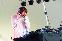 "© Licensed to London News Pictures. 06/06/2015. London, UK.   A.G.Cook performing live at Field Day Festival Saturday Day 1.   A. G. Cook is a British music producer and head of record label PC Music. Cook's dense, chaotic arrangements are distorted versions of mainstream pop music. He was named #12 in the Dazed 100 for ""redefining style and youth culture in 2015 and beyond"".  Photo credit : Richard Isaac/LNP"
