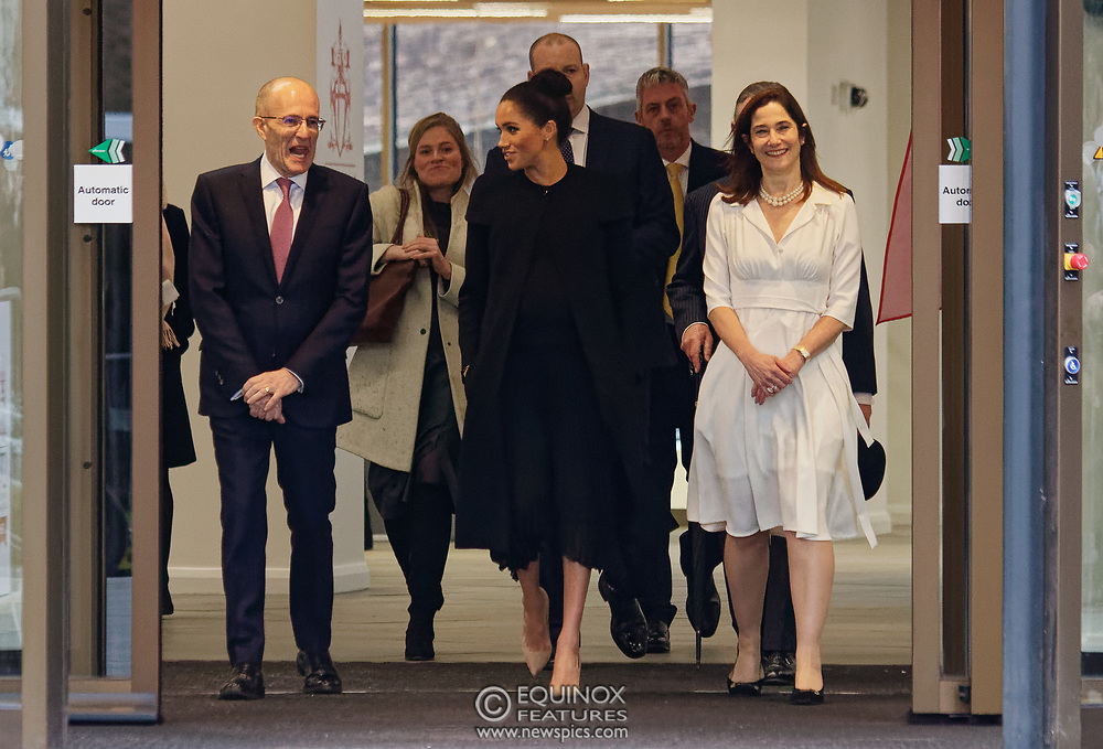 London, United Kingdom - 31 January 2019<br /> Meghan, Duchess of Sussex, Meghan Markle visiting City, University of London in her role as Patron of The Association of Commonwealth Universities, ( The ACU ). City, University of London, Northampton Square, Clerkenwell, London, UK. Pictured with Meghan is President of City, University of London, Professor Sir Paul Curran.<br /> (photo by: EQUINOXFEATURES.COM)<br /> Picture Data:<br /> Photographer: Equinox Features<br /> Copyright: ©2019 Equinox Licensing Ltd. +448700 780000<br /> Contact: Equinox Features<br /> Date Taken: 20190131<br /> Time Taken: 15014324<br /> www.newspics.com