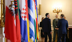 """24.09.2016, Bundeskanzleramt, Wien, AUT, Gipfeltreffen unter dem Titel """"Migration entlang der Balkanroute"""", im Bild v.r.n.l. Präsident des Europäischen Rates Donald Tusk und Bundeskanzler Christian Kern (SPÖ) // f.r.t.l. President of the European Council Donald Tusk and chkee during """"Migration along the Balkan route"""" Summit in Vienna, Austria on 2016/09/24, EXPA Pictures © 2016, PhotoCredit: EXPA/ BKA/ Andy Wenzel <br /> <br /> ***** VOLLSTÄNDIGE COPYRIGHTNENNUNG VERPFLICHTEND // MANDATORY CREDIT *****"""