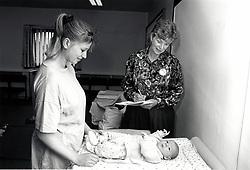 Baby clinic, Nottingham, UK 1991