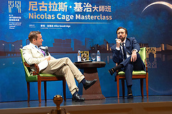 December 9, 2018 - Macau, Macau SAR, China - Mike Goodridgeund Nicolas Cage bei einem Podiumsgspräch auf dem 3rd International Film Festival & Awards Macao im Wynn Casino. Macau, 09.12.2018 (Credit Image: © Future-Image via ZUMA Press)