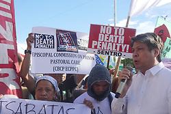 May 24, 2017 - Pasay, National Capital Region, Philippines - Kiko Pangilinan with the protesters. (Credit Image: © George Buid/Pacific Press via ZUMA Wire)