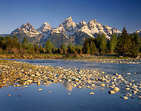 The Teton Range from the Snake River, Grand Teton National Park, Wyoming USA