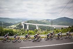 Mark Cavendish (GB) of Team Dimension Data, Mark Renshaw (AUS) of Team Dimension Data, Kristian Sbaragli (ITA) of Team Dimension Data, Bernhard Eisel (AUT) of Team Dimension Data, Jacques Janse van Rensburg (AUS) of Team Dimension Data, Nathan Haas (ESP) of Team Dimension Data at Crni Kal during Stage 1 of 24th Tour of Slovenia 2017 / Tour de Slovenie from Koper to Kocevje (159,4 km) cycling race on June 15, 2017 in Slovenia. Photo by Vid Ponikvar / Sportida