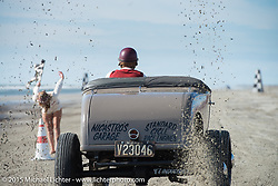 Sand drags on the beach at the Race of Gentlemen. Wildwood, NJ, USA. October 10, 2015.  Photography ©2015 Michael Lichter.