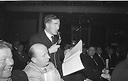 Dr Jim Brosnan, Chairman Kerry County Board (with microphone) speaking at the Annual Congress of the GAA at the Gresham Hotel, Annual Congress, GAA, Gresham Hotel, Easter Sunday. 14.4.1963. 14th April 1963