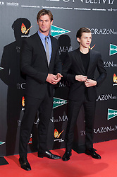 """03.12.2015, Callao Cinema, Madrid, ESP, Premiere, In the Heart of the Sea, im Bild Australian actor Chris Hemsworth (L) and British actor Tom Holland (R) // during the Madrid Premiere of the movie """" In the Heart of the Sea"""" at the Callao Cinema in Madrid, Spain on 2015/12/03. EXPA Pictures © 2015, PhotoCredit: EXPA/ Alterphotos/ Victor Blanco<br /> <br /> *****ATTENTION - OUT of ESP, SUI*****"""