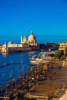 Overview of the Basilica di Santa Maria della Salute, Venice, italy.