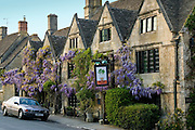 BMW car parked outside the Bay Tree Hotel in Burford,The Cotswolds, United Kingdom