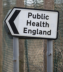 © Licensed to London News Pictures. 07/03/2018. Salisbury, UK. A road sign points towards Public Health England's department at Porton Down - a government facility where it is thought that scientists have been involved in the case of the suspected poisoning of former Russian spy Sergei Skripal who has become ill, along with his daughter Yulia, in Salisbury, England. The couple where found unconscious on bench in Salisbury shopping centre. Specialist units have been called in to deal with any possible contamination. Photo credit: Peter Macdiarmid/LNP