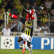Fenerbahce's Moussa Sow (F) during the UEFA Champions League Play-Offs First leg soccer match Fenerbahce between Arsenal at Sukru Saracaoglu stadium in Istanbul Turkey on Wednesday 21 August 2013. Photo by Aykut AKICI/TURKPIX