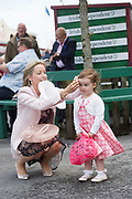 29/07/2017 Mum Clodagh Kaitlin Mahon from Shannonbridge Co. Offaly  on Plate day of the Galway Races.   Photo:Andrew Downes, xposure