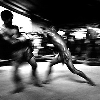 Yangon, Myanmar May 2006<br /> Boxing fighters of the KLN boxing school. Most of them are part of the Karen minority ethnic group.<br /> Photo: Ezequiel Scagnetti