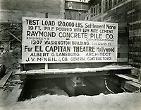 1925 Construction sign for El Capitan Theater on Hollywood Blvd.