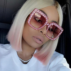 """Blac Chyna releases a photo on Instagram with the following caption: """"Hi baby @blinkoptical267 !!"""". Photo Credit: Instagram *** No USA Distribution *** For Editorial Use Only *** Not to be Published in Books or Photo Books ***  Please note: Fees charged by the agency are for the agency's services only, and do not, nor are they intended to, convey to the user any ownership of Copyright or License in the material. The agency does not claim any ownership including but not limited to Copyright or License in the attached material. By publishing this material you expressly agree to indemnify and to hold the agency and its directors, shareholders and employees harmless from any loss, claims, damages, demands, expenses (including legal fees), or any causes of action or allegation against the agency arising out of or connected in any way with publication of the material."""