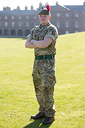 Robert Gaines. Feature on the Army's new Foxhound light mechanised infantry vehicles at Fort George army barracks, before they leave on convoy for England, before going into active service.