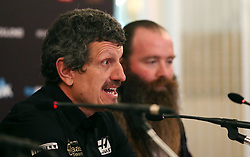 Guenther Steiner and Rich Energy CEO William Storey during the Rich Energy Haas F1 Team 2019 car launch at the Royal Automobile Club, London.