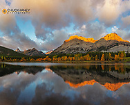 Morning light on Wedge Pond in Kananaskis Country, Alberta, Canada