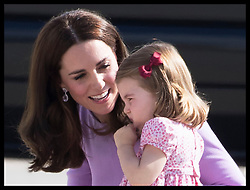 July 21, 2017 - Hamburg, Germany - Image licensed to i-Images Picture Agency. 21/07/2017. Hamburg, Germany. The Duke and Duchess of Cambridge with Prince George and Princess Charlotte as they look at helicopters during a visit to Airbus in Hamburg, Germany,  before flying home on the final day of their Royal Tour  Picture by Stephen Lock / i-Images (Credit Image: © Stephen Lock/i-Images via ZUMA Press)