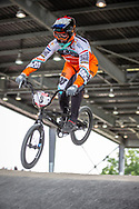 #8 (VAN DER BURG Dave) NED at Round 6 of the 2019 UCI BMX Supercross World Cup in Saint-Quentin-En-Yvelines, France