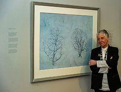 Pictured: Victoria Crowe OBE in front oif Garden Full of Snow<br /> <br /> Another Time, Another Place at The Scottish Gallery - an exhibition of works by renowned artist Victoria Crowe OBE which have inspired 12 poems by poet Christine De Luca<br /> <br /> Ger Harley   EEm 29 April 2021