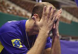 12-07-2000 VOLLEYBAL: WLV ITALIE - BRAZILIE: ROTTERDAM<br /> Italie wint met 3-0 van Brazilie / Nalbert<br /> ©2000-FotoHoogendoorn.nl