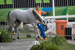 Vrieling Jur, NED, VDL Zirocco Blue<br /> Horse Inspection<br /> Olympic Games Rio 2016<br /> © Hippo Foto - Dirk Caremans<br /> 12/08/16