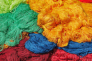 Dyed new wool in the medina of Marrakech.