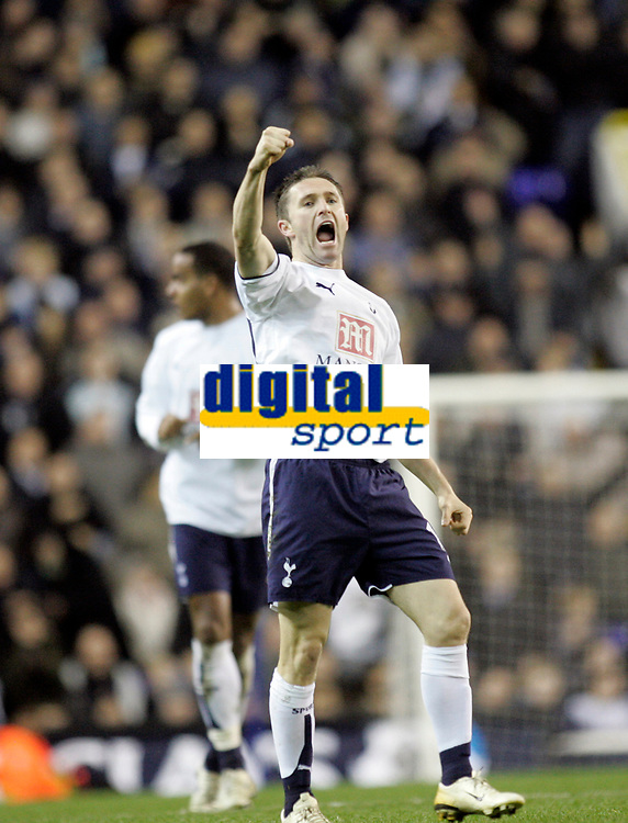 Photo: Marc Atkins.<br /> Tottenham Hotspur v Middlesbrough. The Barclays Premiership. 05/12/2006.  Robbie Keane celebrates scoring the 2nd goal for Spurs.