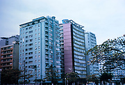 Modern hotel buildings and apartment blocks in city of Santos, Sao Paulo, Brazil, South America, 1962