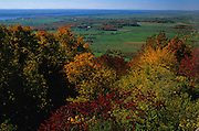 Ottawa Valley in autumn from the Gatineau Hills<br /> Gatineau Park<br /> Quebec<br /> Canada
