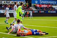 1. divisjon fotball 2018: Aalesund - Mjøndalen. Aalesunds Torbjørn Agdestein etter en stor sjanse i førstedivisjonskampen i fotball mellom Aalesund og Mjøndalen på Color Line Stadion.