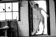 Michelle L'amour - The Upstairs Room. A figure series of Michelle L'amour photographed by Mike White (Artblanche) from a room on the roof on a hot Chicago afternoon. Michelle L'amour