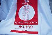Royal Wedding Sick Bag t-shirts for sale for those who want to avoid the wedding. Brick Lane Market scenes along this most famous of East End markets in London.